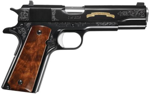 "Remington 1911 R1 200th Year Anniversary Limited Edition 45 ACP 5"" Barrel C-Grade Walnut Grips and Gold Inlay 7rd Mag"