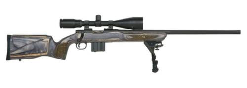 "Mossberg MVP Varmint Bolt Action Rifle 5.56/223 24"" Medium Bull Fluted Threaded Barrel, New Bench Rest Style Laminate Stock 4-16x50mm Riflescope/Rings 5rd Mag"