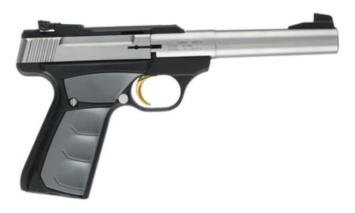 "Browning Buck Mark Camper UFX 22LR 5.5"" Tapered Bull Barrel Stainless Steel, UFX Ambidextrous Grips 10 Round"