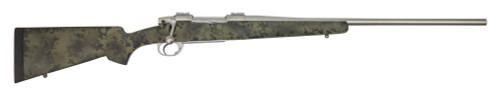 "Nesika Sporter 280 Rem, 24"" Barrel, Bell & Carlson Romainan Forest Camo Stock, Stainless Steel, 1rd"
