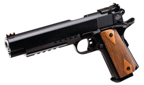 "Rock Island Armory Pro Match Ultra 1911A1 10mm 6"" Barrel Parkerized Finish Fiber Optic Front Sight 8rd"
