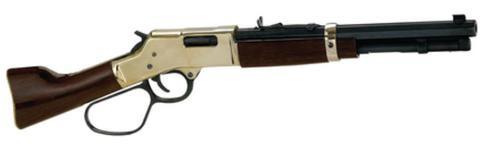 "Henry Mare's Leg Pistol Lever 45 Colt 12"" Barrel, Walnut Brass Receiver, 5rd"