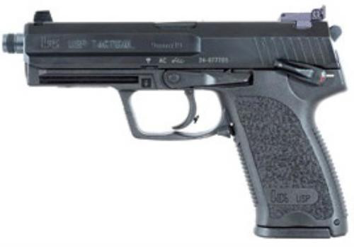 HK USP9 Tactical (V1) DA/SA, safety/decocking lever on left, three 15rd magazines and adj. night sights