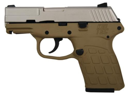 Kel-Tec PF-9 9mm 3.1 Barrel Nickel Boron Slide Tan Grip/Frame Double Action Only 7rd