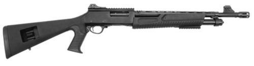 "Escort Home Defense Tactical 12 Ga 3"" Chamber 18"" Blued Barrel Muzzle Brake TacStock2 Black With Pistol Grip 5rds"