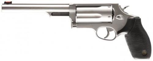 "Taurus Judge Magnum, 410 Ga/45LC, 6.5"" Barrel, Steel Frame, Stainless Finish, 5Rd"