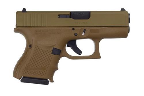 Glock G26 Gen4 9MM Full Cerakote Flat Dark Earth Finish, Rail, 3 10 Rnd Mags