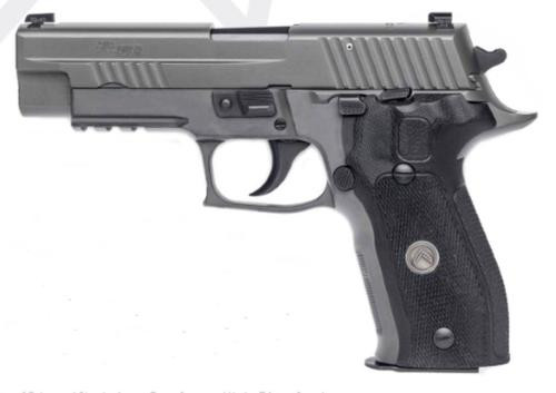 Sig P226 40 S&W 4.4In Legion Gray Da/Sa X-Ray Black G10 Grip (3) 12Rd Steel MAG SRT
