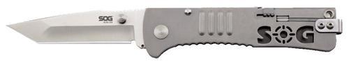 "SOG Slim Jim Tanto Folding Knife, 3.18"" Blade, Stainless"