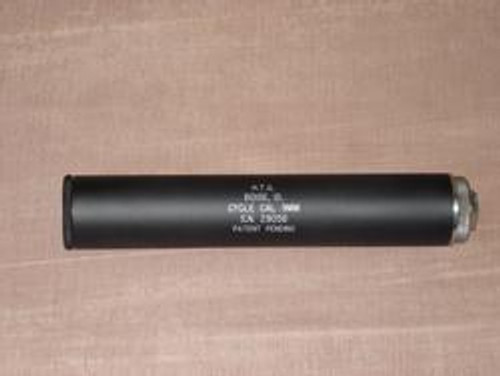HTG Cycle 9MM Silencer - This silencer is meant to be shot dry; no grease or other coolant medium is required.