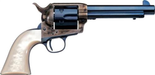 "Uberti 1873 Frisco Cattleman Charcoal .45 Colt, 4.75"", Pearl Grips, Charcoal Blue"