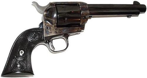 "Colt Single Action Army, .357 Magnum, 5.5"" Barrel Dbl Eagle Grip, Blued, Case Colored Finish, 6 Rd"