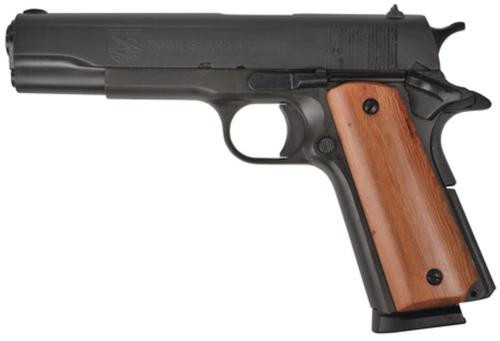 "Rock Island 1911 US GI Standard .45 ACP 5"" Barrel Fixed Sights Parkerized Finish 8rd Mag"