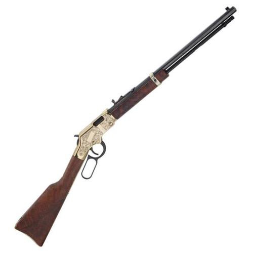 "Henry Big Boy Deluxe 3rd Edition Lever Action Rifle, .44 Mag, 20"" Barrel, 10rd, Engraved, Walnut Stock"
