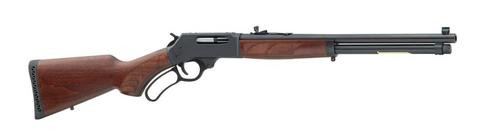 """Henry Repeating Arms, Lever Action, 45-70, 18.43""""rd Barrel, 1.20"""" Rate of Twist, Blue Finish, Pistol Grip, American Walnut Stock, Fully Adjustable Semi-Buckhorn Rear and Brass Beaded Front Sight, 4Rd"""