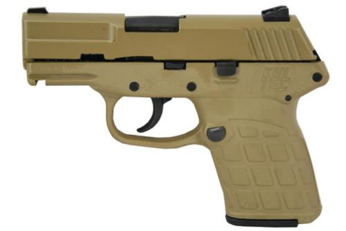 "Kel-Tec PF-9 9mm 3.1"" Barrel Cerakote Tan Grip/Frame, 7rd Mag"