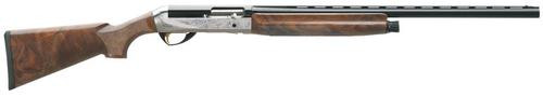 "Benelli Legacy 12g 28"" AA Grade Select Walnut Nickel/Blue Finish, Etched Game Scene"