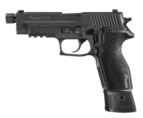 """SIG P227 Tac SA/DA 45ACP, 4.4"""" Threaded Barrel, Black Grip, 10rd+14rd Mags"""