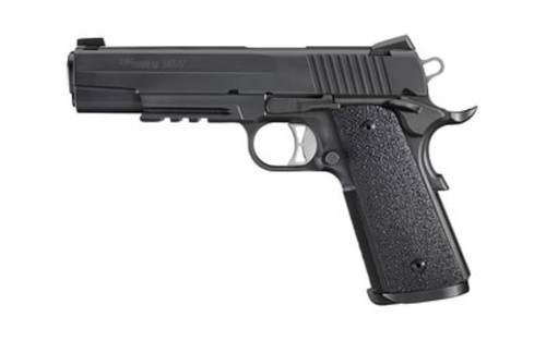"Sig 1911 TacOps 10MM, 5"" Barrel, Ergo Grips Night Sights 4 8rd Magazines"