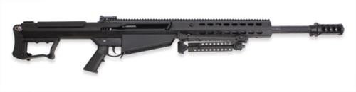 "Barrett M107A1 .50 BMG 20"" Chrome Lined Barrel Suppressor-Ready Muzzle Brake Black Ceracote Finish 10 Rd Mag"