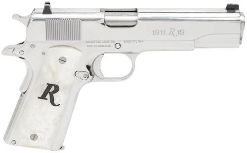 "Remington 1911 R1 45 ACP, 5"" Barrel, High Polish Stainless Steel 8 Rnd"