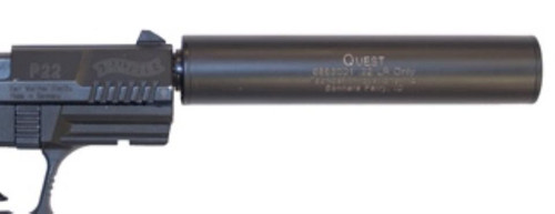 Tactical Innovations QUEST STAINLESS STEEL W/BLACK FINISH PREMIUM Lightweight 22LR Suppressor