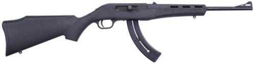"Mossberg Blaze .22 LR 16.5"" Barrel Blue Finish Adjustable Sights Black Synthetic Stock 25rd"
