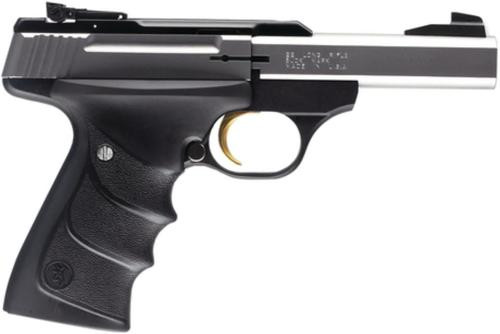 Browning 22LR Buck Mark Standard, Stainless Steel Finish & Ultragrip RX Grips