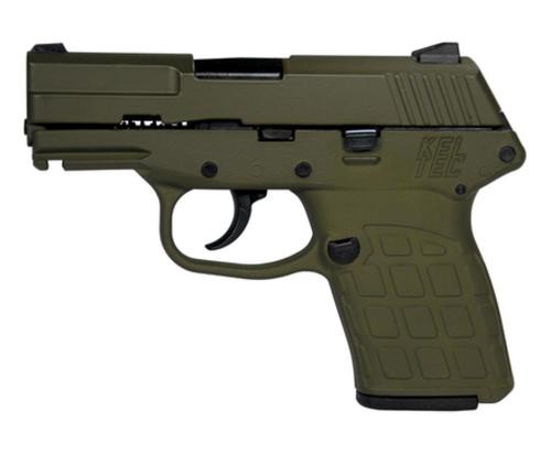 "Kel-Tec PF-9 9mm 3.1"" Barrel Cerakote Olive Drab Green Grip & Frame, 7rd Mag"