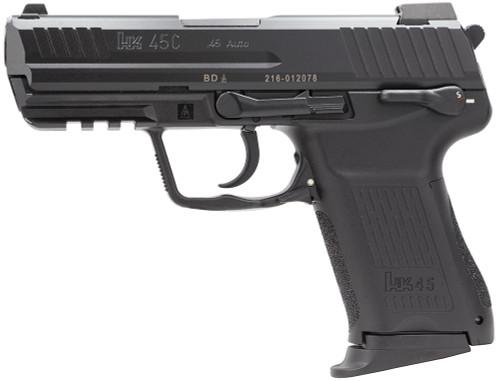 "HK HK45 Compact V1 *MA Compliant* .45 ACP, 3.94"" Barrel, Decocker, NS, Black, 8rd"