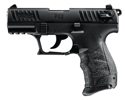 "Walther P22 22LR 3.4"" Barrel Black 10 Round, 2 Mags- CA Compliant"