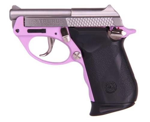 """Taurus PT-22 22lr 2.75"""" Tip Up Barrel Lavender Polymer Frame SS 8rd Mag"""