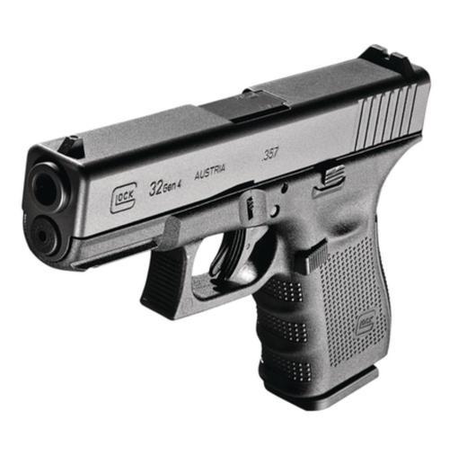 "Glock G32 Gen4 .357 Sig, 4"", Black, Fixed Sights, 13rd Mag"