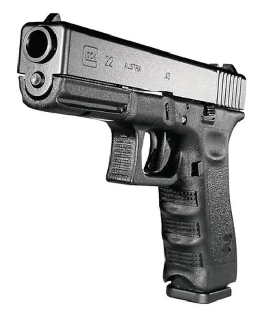 Glock G22 .40 Smith & Wesson 4.49 Inch Barrel Black Fixed Sights 10 Rd Mag