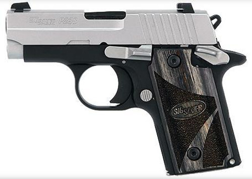 Sig P238 380 ACP 2.7In Blackwood 2-Tone SAO Blackwood Grip (1) 6RD Steel MAG
