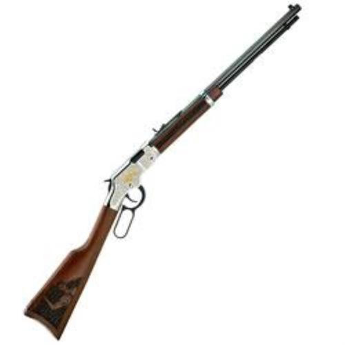 "Henry Salute To Scouting Edition, 22LR, 20"" Octagonal Barrel, 16 rd, Engraved Nickel/Walnut"