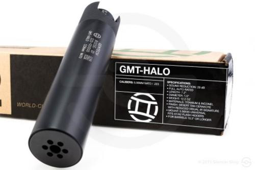 Gemtech Halo Suppressor, 5.56, Black, Titanium Silencer, 5.56mm