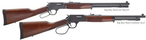 "Henry Big Boy Steel Lever Action Rifle, .45 LC, 20"" Barrel, 10rd, Blued/Walnut"
