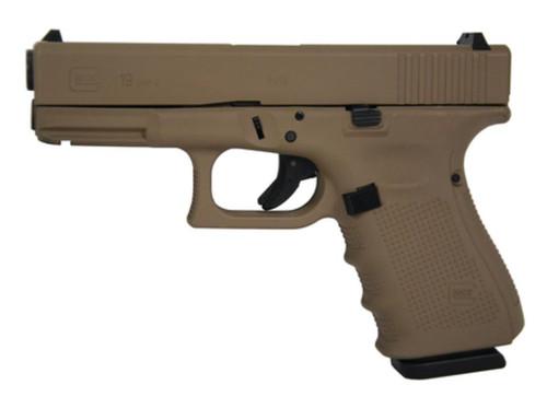 """Glock 19 Gen4 9mm 4"""" Barrel Hot Cerakote Magpul Dark Earth Made in USA 15 Rd Mag"""