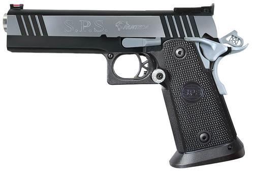 "SPS Pantera Single 45 ACP, 5"" Barrel, Black Poly Grip, Black/Chrome Slide,, rd,  12 rd"