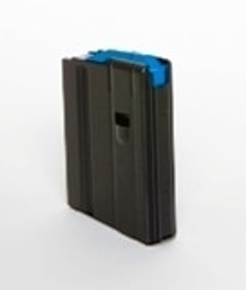 DURAMAG Magazine, 6.5 Grendel, 10Rd, Black, Fits AR Rifles, Stainless Steel, Blue Anti-Tilt AGF Follower