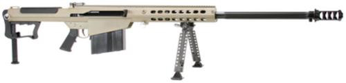 "Barrett M107A1 .50 BMG, 29"" Chrome Lined Fluted Barrel, Black Muzzle Brake, Tan Cerakoted Receiver, 10rd"