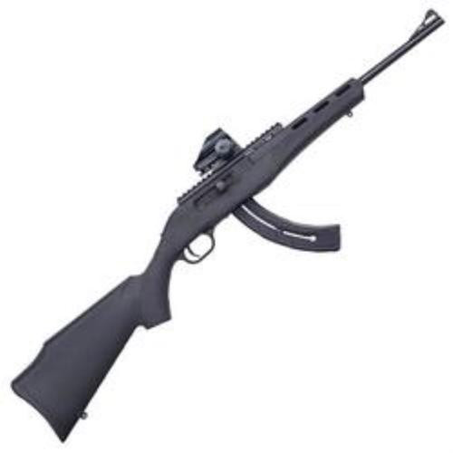 "Mossberg Blaze Rifle, 22LR, 16.5"", 26rd, Black Synthetic Stock, Green Dot Sight"