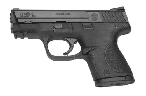"""Smith & Wesson, M&P, Compact, 40 S&W, Striker Fired, 3.5"""" Barrel, Polymer Frame, Black, Low Profile Carry Sights, 10Rd, 2 Magazines, No Thumb Safety, Magazine Disconnect"""