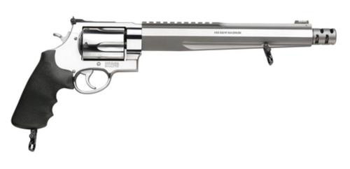 "Smith & Wesson 460XVR, Extra-Large, 460SW, 10.5"" Barrel, Stainless Steel Finish, Rubber Grips, Adjustable Sights, 5Rd"