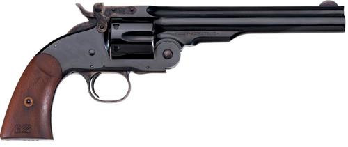 "Uberti 1875 No. 3 2nd Model Top Break, .44-40 Win, 7"", Blued, Walnut Grip"