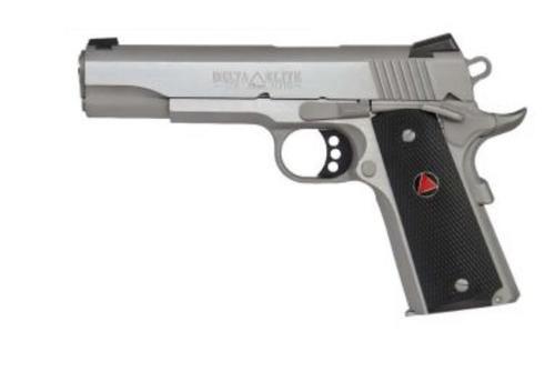 "Colt Delta Elite 10mm 5"" Barrel SS Composite Grips, Delta Medallions 8 Rd Mag"