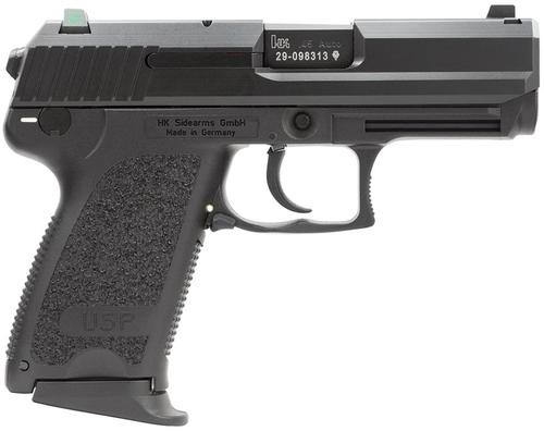 HK USP45 Compact (V7) LEM DAO, three 8rd magazines and night sights