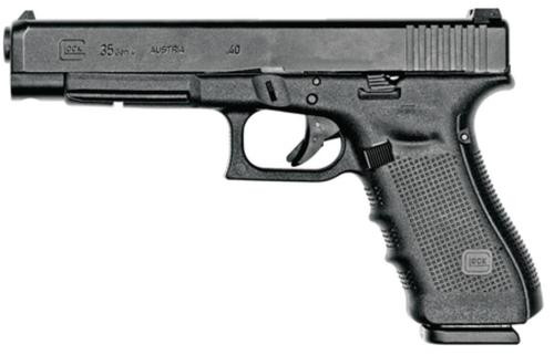 "Glock G35 .40 Cal. Competition, 5.32"" Barrel, 15 Round Mag. Adjustable Rear Sights, 15rd Mag"