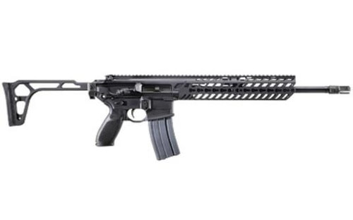 "Sig MCX Patrol 300 Blackout 16"" Barrel Flip Up Sights, Folding Stock, Keymod Rail 30rd Mag"